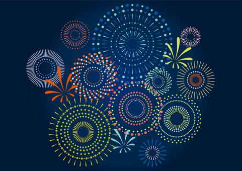 Night sky and fireworks