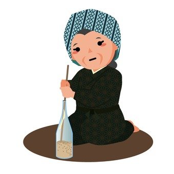 Rice polishing during wartime