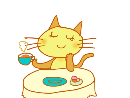 Cat who makes tea