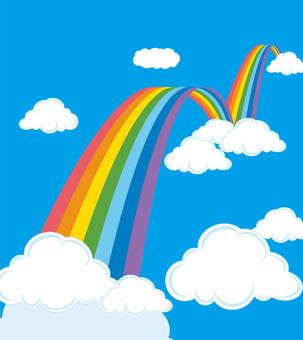 Rainbow bridge illustration