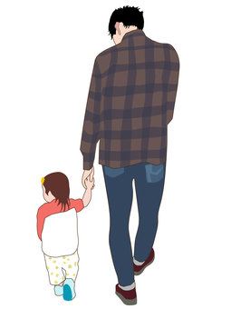 With dad