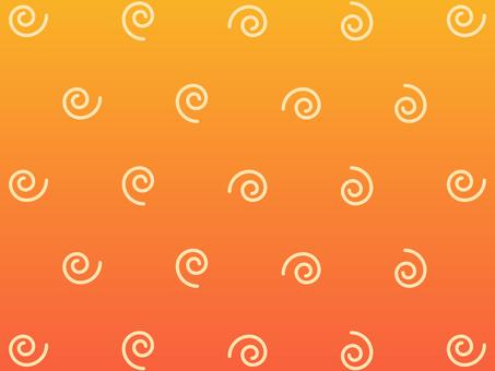Wallpaper spiral orange