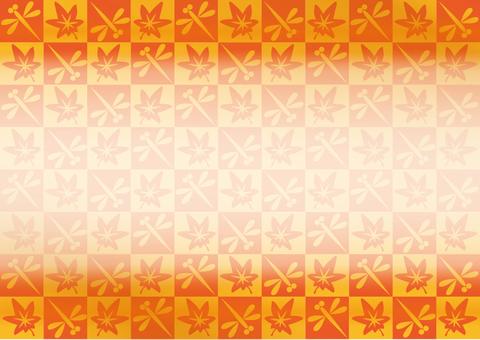 Autumn's checker-like frame background