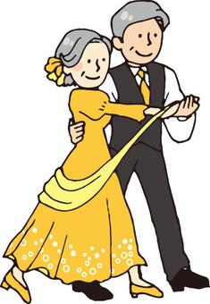 Ballroom dance (elderly · yellow)