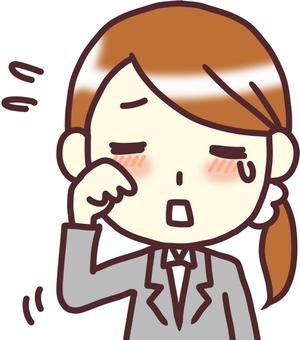 [여성 정장] 정면 _ 눈물이 난다