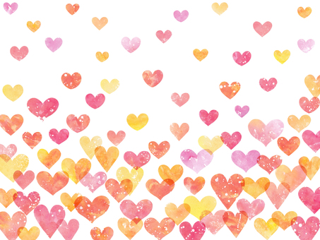 Watercolor Heart Background 4