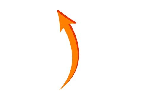 Up arrow (Orange)
