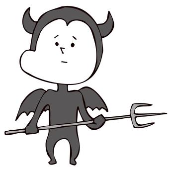 ピッチフォークを持つ悪魔