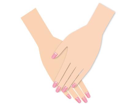 Nail pink layered