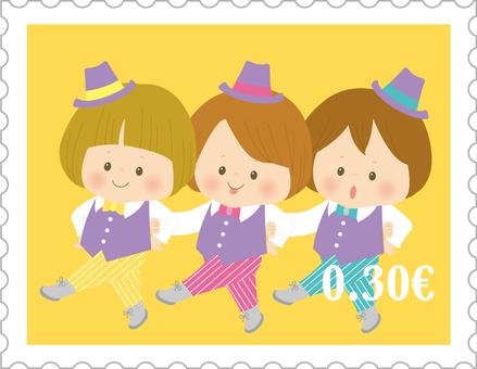 切手_ダンス