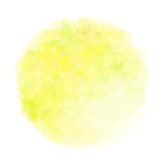 Watercolor-like round type / yellow type