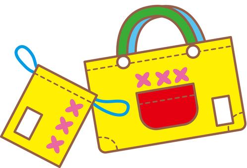 Handmade back and drawstring bag