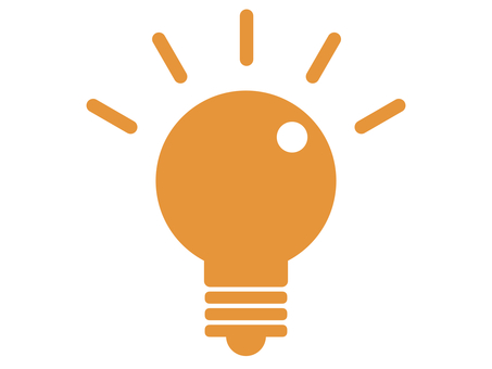 Light bulb inspiration silhouette orange
