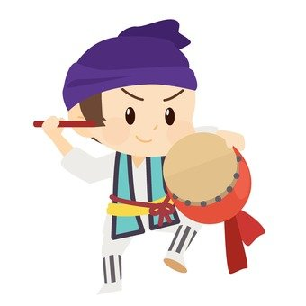 Taiko dancer