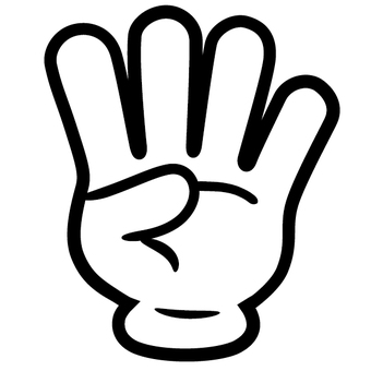 Four-finger gesture fourth