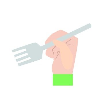Hand with hand - fork