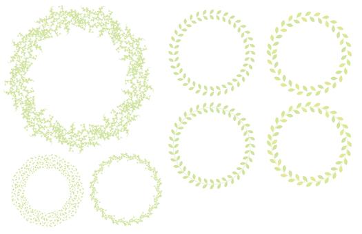 植物裝飾框架集01