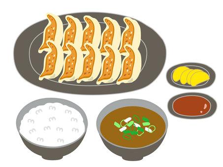 Dumplings set meal