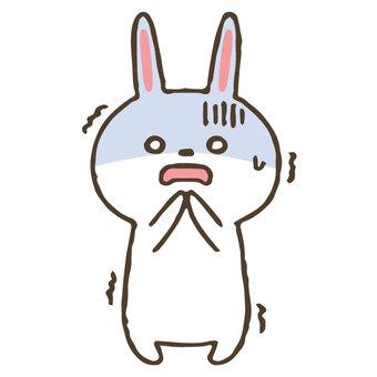 Cute hand drawn rabbit / shock / ghan