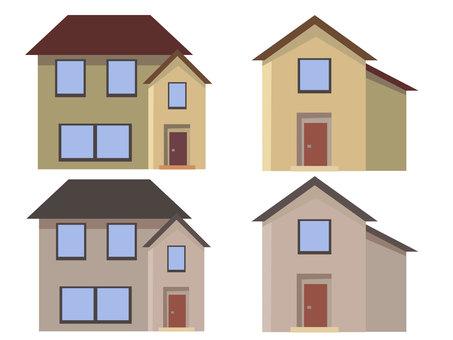 House home house set vector