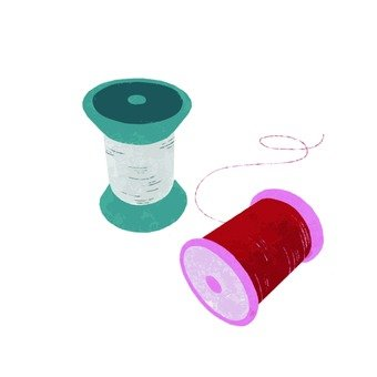 Hand-drawn wind sewing thread