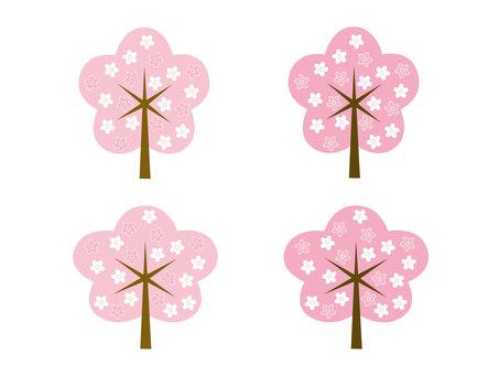 図案桜の木セット