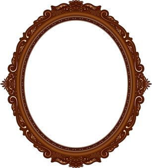 Picture frame luxury oval oval tree