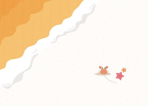 Illustration of summer _ beach _ background