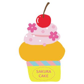 체리 컵 케이크 체리