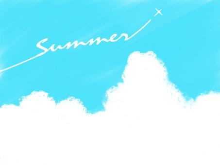 藍藍的天空夏天