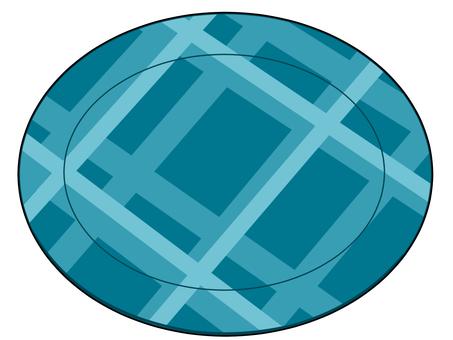 藍色檢查圓盤