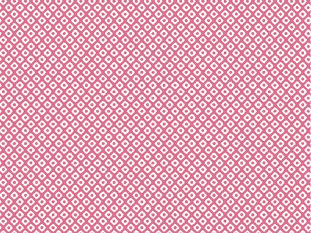 Kanoko pattern _ peach _ white