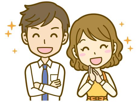 Male and female (couple): A_ pleasure 02BS