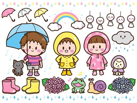 Rain image set
