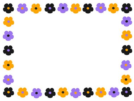 Halloween color flower frame