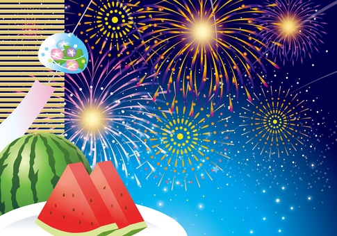 Watermelon and Firework Display