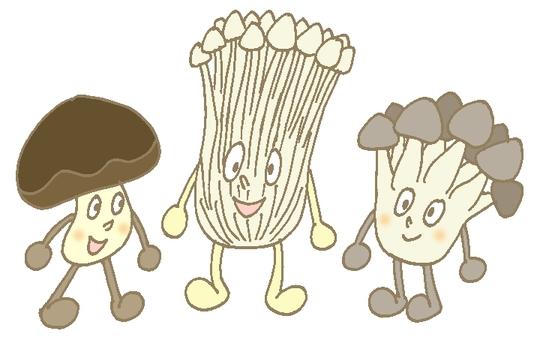 버섯 트리오