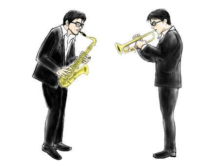 색소폰 남자와 트럼펫