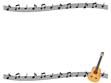 Classic guitar decorative frame 2