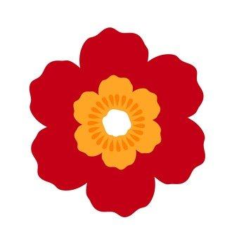 붉은 꽃 4