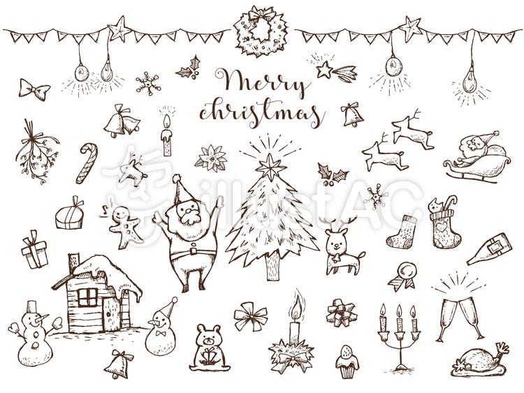 手書きクリスマス詰め合わせ2イラスト No 601701無料イラストなら