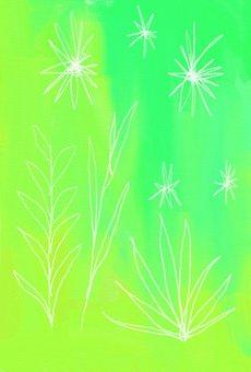 Plant green postcard