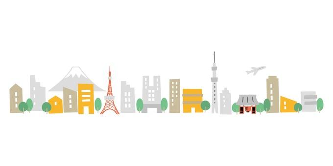 도쿄의 거리 풍경