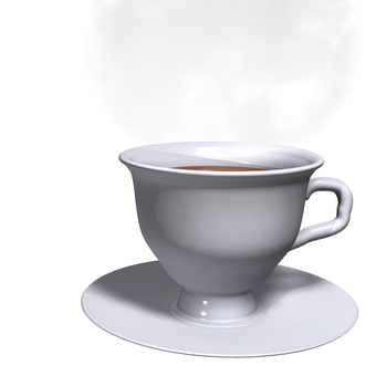 Cup and steam (background transparent)