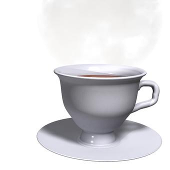 杯和蒸汽(背景透明)