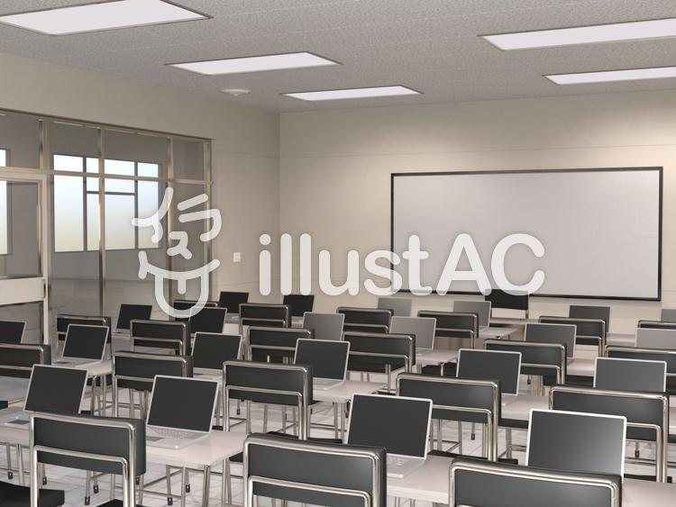 ビジネススクールの教室のイラスト