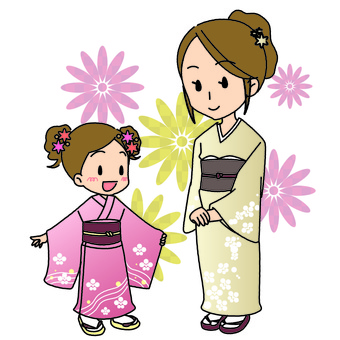 Kimono parent and child