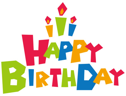 Happy birthday letter POP letters