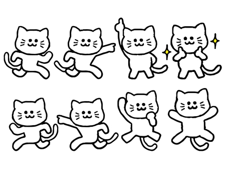 Cat set (animal simple)