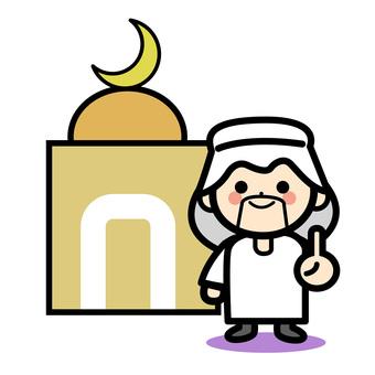 단순 이슬람 사람 - 모스크
